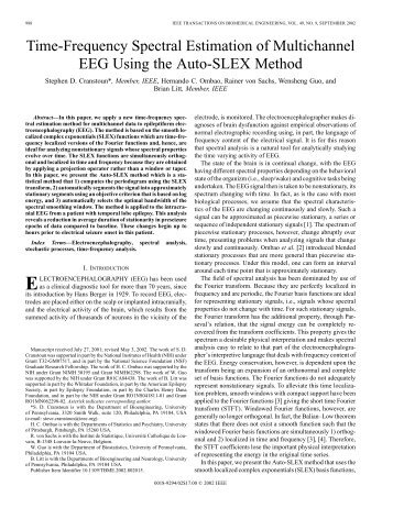 Time-frequency spectral estimation of multichannel ... - IEEE Xplore