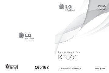 Navodila za uporabo KF301 BIG - LG