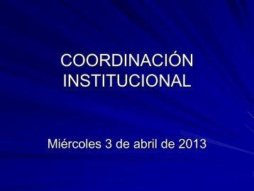COORDINACIÓN INSTITUCIONAL - Consejo de Formación