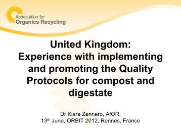 United Kingdom: Experience with implementing and promoting the ...