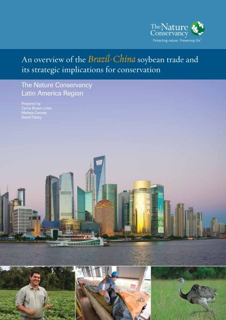 Brazil-China Soybean Trade - The Nature Conservancy