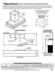 Full Specification Set - US Appliance