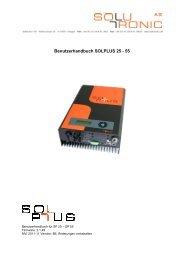 Benutzerhandbuch SOLPLUS 25 - 55 - germansolar