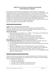 EDU651 Course Project-Action Research Proposal Final Submission