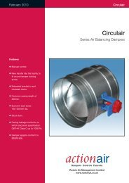 Circulair Series Air Balancing Dampers - Actionair