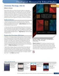 Theological, Historical & Ethical Studies - Baker Publishing Group