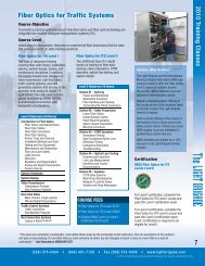 Fiber Optics for Traffic Systems - ITS Midwest
