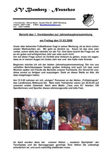 Jahresbericht 2006 - SV Blomberg Neuschoo