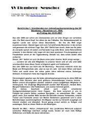 Jahresbericht 2007 - SV Blomberg Neuschoo