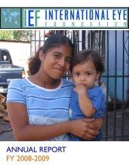 IEF Annual Report 2009.pdf - The International Eye Foundation
