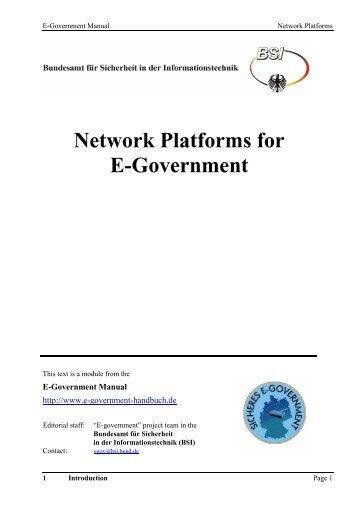 Network Platforms for E-Government - Bundesamt für Sicherheit in ...