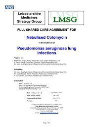 Nebulised Colomycin Pseudomonas aeruginosa lung infections