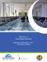 Region 14 Education Service Center - NCPA