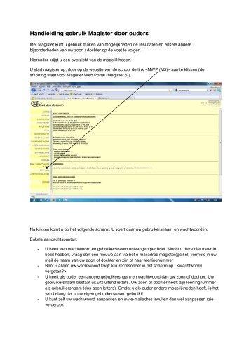 Handleiding gebruik Magister door ouders - sjl2.nl