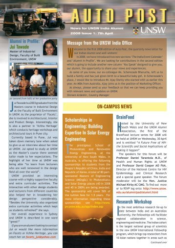 the first 2008 edition of Auto Post, the quarterly news