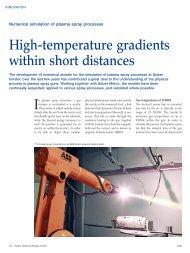 High-temperature gradients within short distances