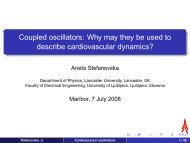 Coupled oscillators: Why may they be used to describe ... - CAMTP