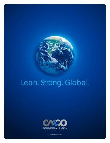 Lean. Strong. Global. - Columbus McKinnon Corporation