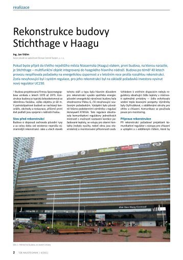 TZB: Rekonstrukce budovy Stichthage v Haagu