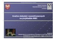 Analiza statystyk wyszukiwawczych na przykładzie MBC - Fidkar