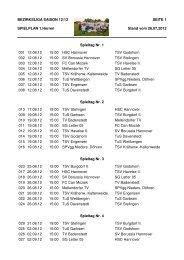 der Spielplan der Saison 2012/13 - SV Borussia Hannover