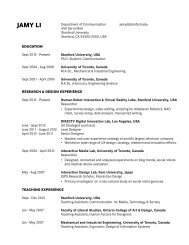 JAMY LI - Communication - Stanford University