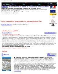 lettre d'information Ramau n°20