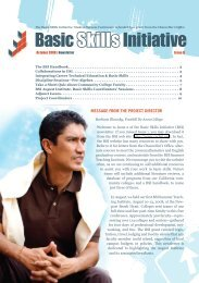 Issue 2 - Basic Skills Initiative