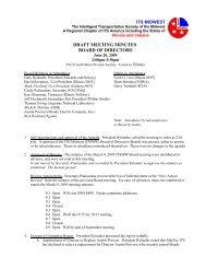 Board of Directors Meeting Minutes (Jun. 2005) - ITS Midwest