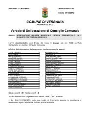 approvazione imposta municipale propria sperimentale - Comune di ...