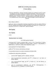 ARRÊT DE LA COUR (grande chambre) - European Database of ...