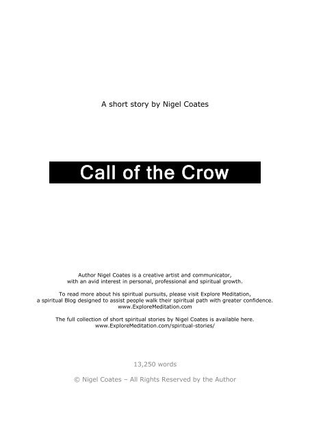 The Call of The Crow - Explore Meditation