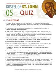 Quiz on John chapter 5 - Orthodox Christian Bible Studies