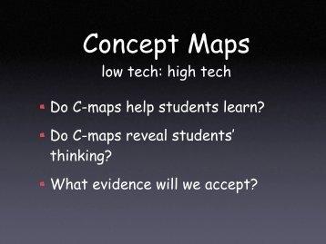 Concept Maps: low tech