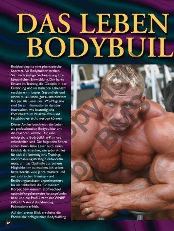 Das Leben als Bodybuildingprofi. Von Berend Breitenstein.