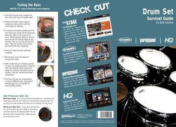Drum Set Survival Guide by Bob Gatzen - Johnny Thompson Music