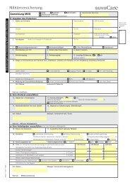 Anmeldung Militärversicherung (SUVA care)