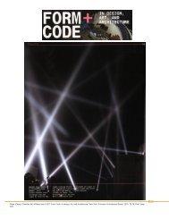 Form Code: In design, Art, and Architecture - Rafael Lozano-Hemmer