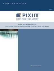 Frost and Sullivan 2008 Award - Pixim
