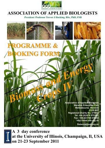 printable programme - Association of Applied Biologists