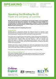 Speaking Out Briefing No.22 - National Council for Voluntary Youth ...