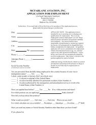 Job Application - McFarlane Aviation Products