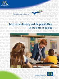Levels of Autonomy and Responsibilities of Teachers in ... - EACEA