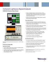 Coherent Lightwave Signal Analyzer - OM4000 Series - Tektronix