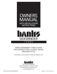 OWners ManUal - Bankspower