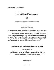 Last Will and Testament - Islamguiden