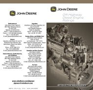 Off-Highway Diesel Engine Ratings - John Deere Industrial Engines