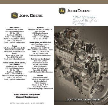 Off-Highway Diesel Engine Ratings - John Deere Industrial Engines