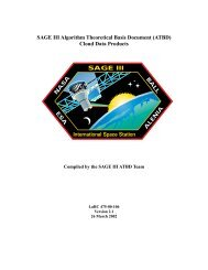 SAGE III: ATBD for Cloud Data Products - NASA's Earth Observing ...