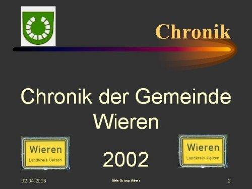 Chronik Wieren 2002 (pdf 2,35 MB) - Samtgemeinde Aue